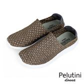 【Pelutini】donna時尚彈性編織休閒運動鞋  金色(8455W-GO)