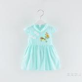洋裝01-2-3-4歲寶寶洋裝民族風復古旗袍裙子女童兒童公主裙棉夏裝