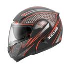 【東門城】ZEUS ZS3300 GG27(消光黑紅) 可掀式安全帽 雙鏡片