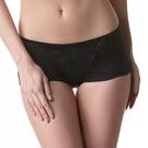 LADY 安布羅莎系列 機能調整型 中腰平口褲(魅惑黑)
