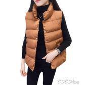 背心外套 秋冬新款棉馬甲女寬鬆加厚棉服百搭背心羽絨棉馬夾無袖外套潮 coco衣巷