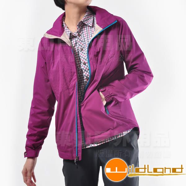 Wildland荒野0A22907-58葡萄紫 女 天鵝絨防風保暖外套