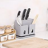 全館88折筷籠子瀝水創意防霉家用筷子架子刀架一體廚房多功能快勺子收納盒百搭潮品