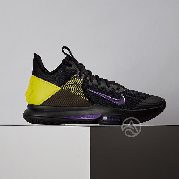 Nike Lebron Witness 4 EP 男鞋 黑黃紫 湖人 避震 籃球鞋 CD0188-004
