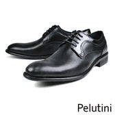 【Pelutini】經典素面紳士德比鞋  黑色(8359-BL)