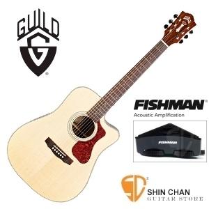 美國經典品牌 Guild D-150CE 可插電切角全單板吉他/夕陽色/標準D桶/Fishman拾音器 附原廠吉他袋