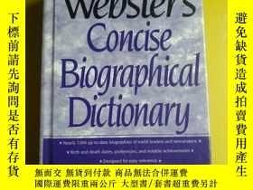 二手書博民逛書店[英文原版]Webster's罕見Concise Biographical Dictionary 韋氏簡明傳記辭典