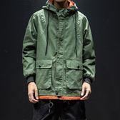 2019新款夾克修身寬鬆韓版潮秋冬季加棉加厚工裝外套短款男士風衣