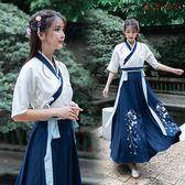 改良漢服女中國風長裙古裝飄逸清新淡雅古風 衣普菈