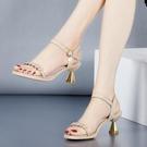高跟鞋 涼鞋女夏季中跟時裝細跟仙女風高跟真皮涼鞋女鞋-Ballet朵朵