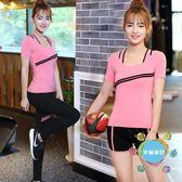 瑜伽服瑜伽服套裝春夏健身房專業跑步運動女三件套速干衣2018新品初學者