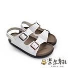 【樂樂童鞋】【台灣製現貨】MIT寬帶涼鞋-白 C036-1 - 現貨 台灣製 涼鞋 大童鞋 女童鞋 男童鞋
