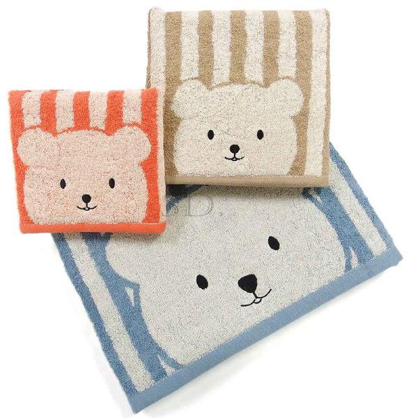 雙星Gemini色紗系列-SC509K彩色條紋熊中方巾 舒適柔軟