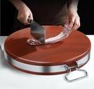 鐵木砧板菜板實木家用切菜板子抗菌防霉案板廚房圓形粘占板