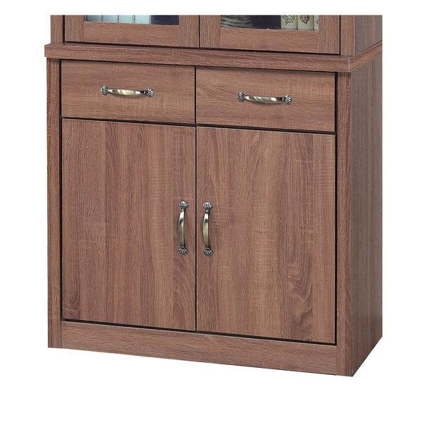 【森可家居】英倫工業風2.7尺收納櫃下座 7SB235-4 廚房餐櫃 木紋質感 MIT台灣製造