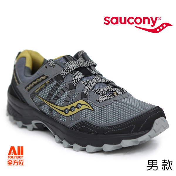 【Saucony】男款慢跑鞋 EXCURSION TR 12 戶外越野 -灰黑(204515)全方位跑步概念館