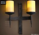 INPHIC- 美式鄉村風格臥室牆燈歐式復古走廊玻璃單頭鐵藝蠟燭台壁燈-I款_S197C