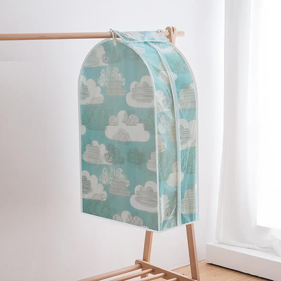 ♚MY COLOR♚ 立體印花衣服掛式防塵罩(L號) 居家 方便 清新 西服 防塵套子【N349】