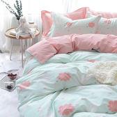 文青風精梳棉單人床包被套組-天鵝湖
