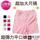 女性無縫平口褲 超彈力大尺碼素面 現貨 no.692(超加大)-席艾妮SHIANEY