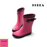 [ALMANDO-SHOES]正韓中筒甜美透氣雨鞋(粉色)