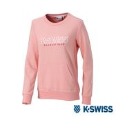 K-SWISS Round Sweat Shirts女圓領長袖上衣-女-粉紅