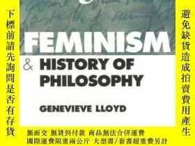 二手書博民逛書店Feminism罕見And History Of PhilosophyY364682 Lloyd, Genev
