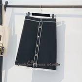 依二衣 裙子秋冬新款針織半身裙短裙時尚裙子