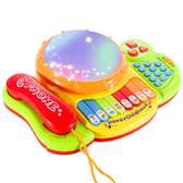 手拍鼓 12種功能 音樂手拍鼓 電子琴 玩具鼓 聲光玩具 故事機 拍拍鼓 寶寶音樂 益智玩具 7616
