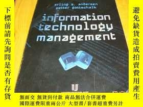 二手書博民逛書店information罕見technology manageme