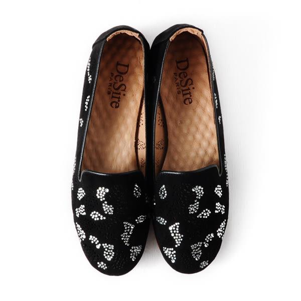 DeSire 閃耀平底樂福鞋  -黑