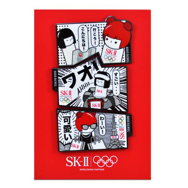 SK-II 2020東京奧運娃娃 別針 (一組3個)【橘子水美妝】