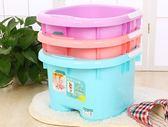 洗腳桶按摩足浴桶養生泡腳桶帶提手塑料足浴盆洗腳桶  WY【父親節好康搶購】