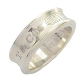 Tiffany & Co 蒂芬妮 1837系列Logo刻印925純銀戒指  12號 【二手名牌BRAND OFF】