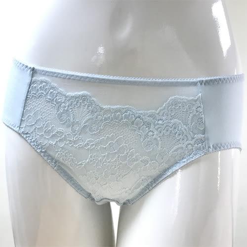 華歌爾-銀河花園M-LL中腰三角褲(輕透藍)NS4135-CB