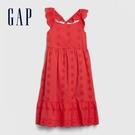 Gap女童活力亮色小飛袖洋裝578274-橡皮紅