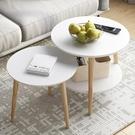茶幾簡約現代迷你網紅沙發邊幾簡易家用陽台北歐創意床頭小圓桌子 印象家品