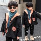 男童外套 男童外套夾棉秋冬裝秋款兒童洋氣加絨刷毛加厚春秋風衣男孩假兩件