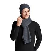 毛帽+羊毛圍巾(兩件套)-休閒純色百搭針織男配件6色73wj13【時尚巴黎】