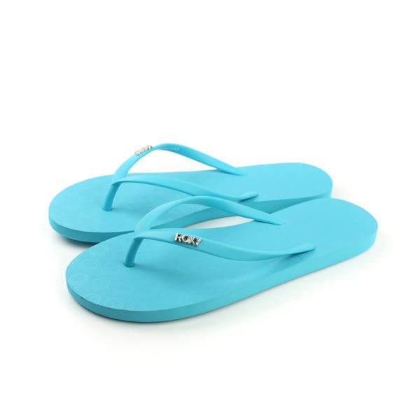 ROXY 夾腳拖 拖鞋 藍色 女鞋 no022