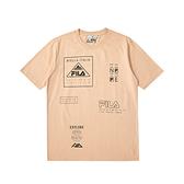 FILA 男女款 純棉 山系 短袖T恤 奶茶色 1TEV-5405-BG 【KAORACER】