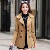 風衣外套 2018冬新款短款外套女韓版小個子矮加厚黑色chic大衣