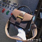韓版百搭斜背包港風手提包時尚磨砂小方包    歐韓流行館