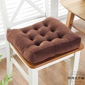 坐墊防滑餐椅墊椅墊榻榻米墊教室凳子毛絨冬季加厚【時尚大衣櫥】