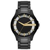 A│X Armani Exchange 時空遊者時尚都會簍空腕錶-AX2192