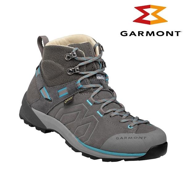 GARMONT 女款 Gore-Tex中筒郊山健走鞋Santiago GTX WMS 481240/615 灰藍色 / 城市綠洲 (健行鞋、黃金大底)