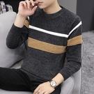 2021冬季男士新款雪尼爾毛衣加厚打底針織衫潮流韓版長袖圓領上衣 8號店