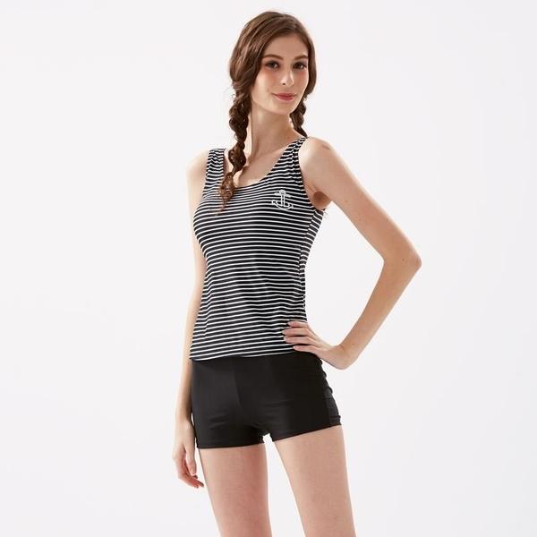【南紡購物中心】細黑白學生款二件式泳衣 18213(大正泳裝)