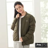 【JEEP】極保暖防寒輕羽絨外套(男女適穿)-軍綠
