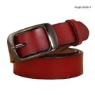 真皮牛皮帶-寬2.8CM簡約百搭顯瘦超軟Q女士針扣腰帶褲帶皮帶女裝服飾配件 (SPA0001) AngelNaNa